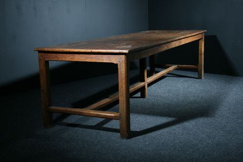 Large 10 Foot Oak and Pine Table SOLD
