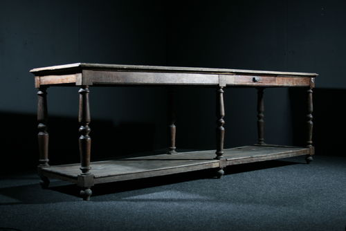 Large Oak Drapers Table SOLD