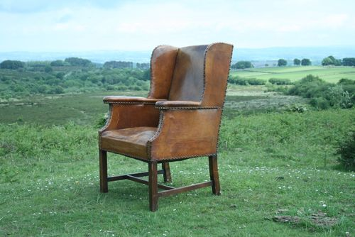Leather Wing Chair POA