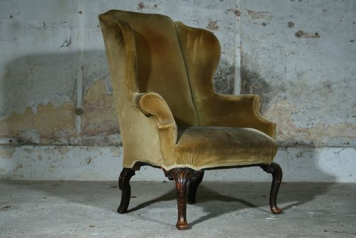 Walnut Wing Chair Sold