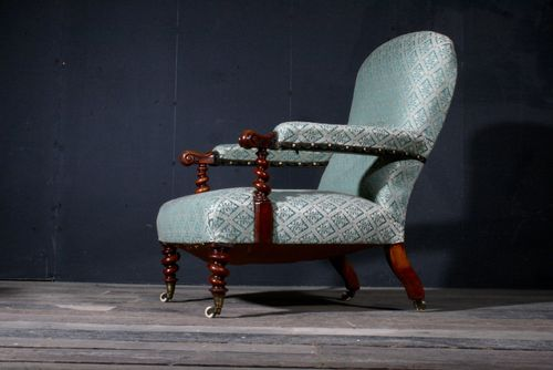 English Barley Twist Library Chair