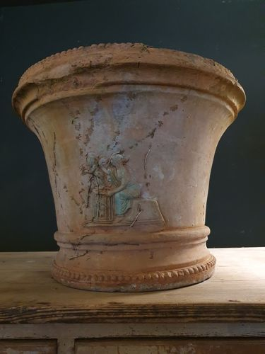 Large Decorated Terracotta Urn