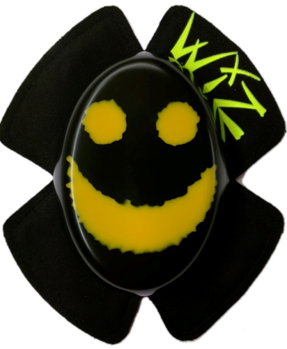 Yellow on Black Smiley Face