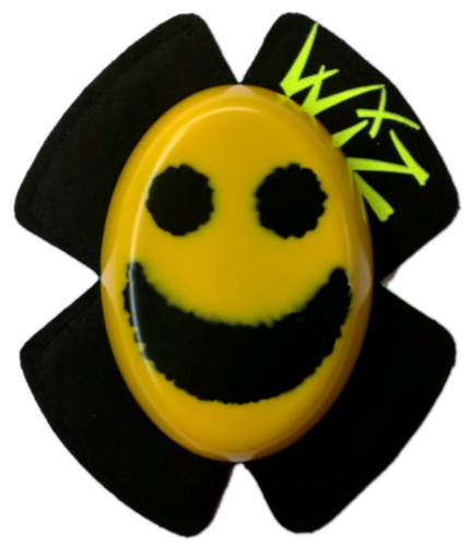 Black on Yellow Smiley Face