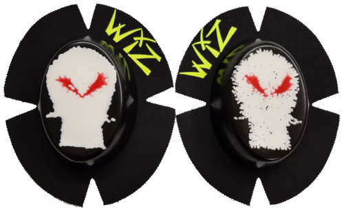 Pair of CLEARANCE SKULL RED EYE Knee Sliders
