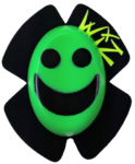 HI VIZ GREEN Smiley Face