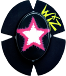 DOUBLE STAR Wht-Pink-Blk