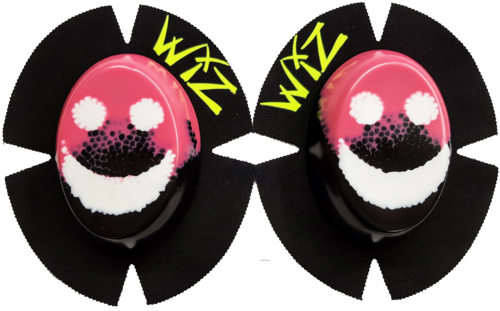 Pair of CLEARANCE Knee Sliders BEARDY SMILES