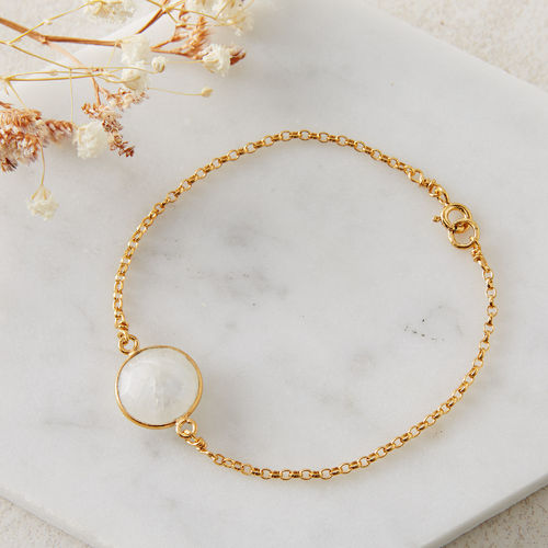 Gold Plated Candy Gem Bracelet