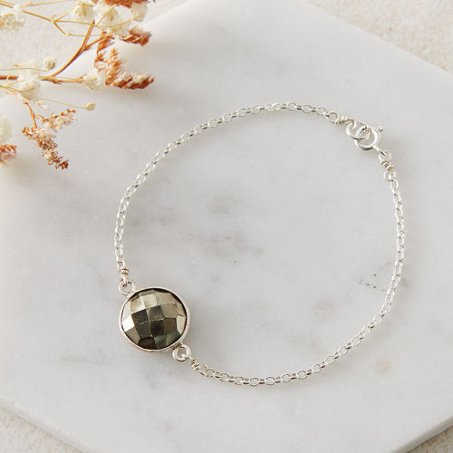 Sterling Silver Candy Gem Bracelet