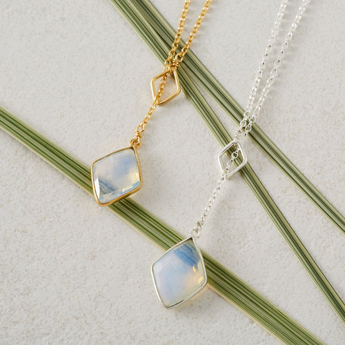 Gold Plated Sterling Silver Diamond Drop Necklace