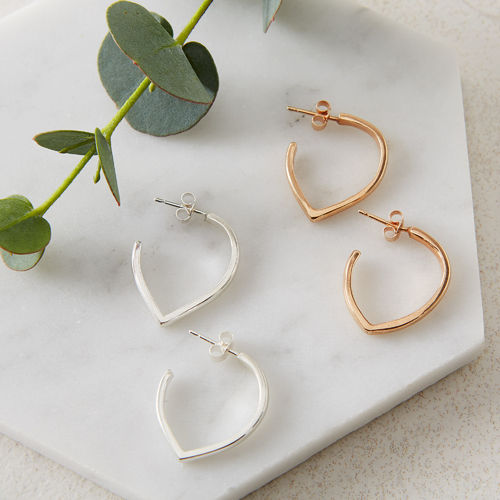 'Original' Sterling Silver Teardrop Hoops