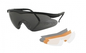 Bobster Safety Shooting Glasses - 3 Lenses Interchangeable