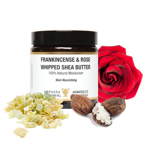 Whipped Frankincense & Rose Shea Butter by Amphora Aromatics 120ml