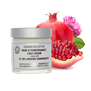 Organic Rose & Pomegranate Face Cream by Amphora Aromatics 60ml