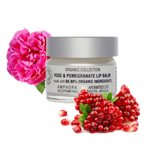 Organic Rose & Pomegranate Lip Balm by Amphora Aromatics 15ml