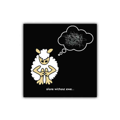 Black sheep card alone without ewe (generic)