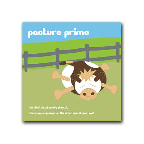 Moody cow pasture prime card