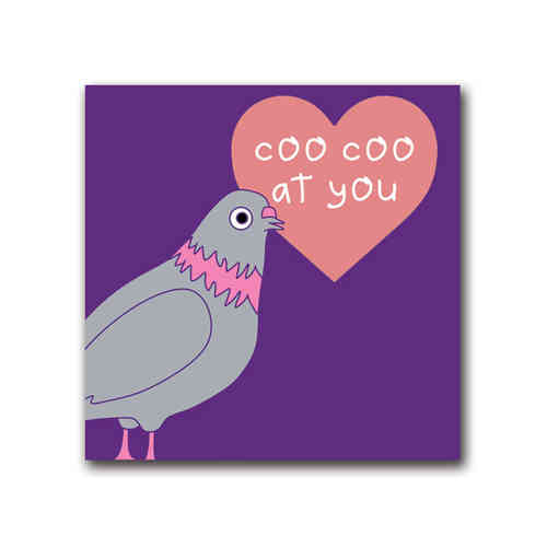 Pigeon pop coo coo at you card