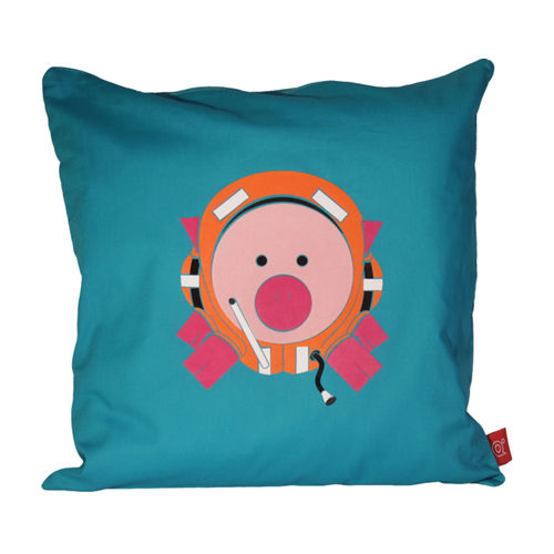 Playful pig diver pig cushion