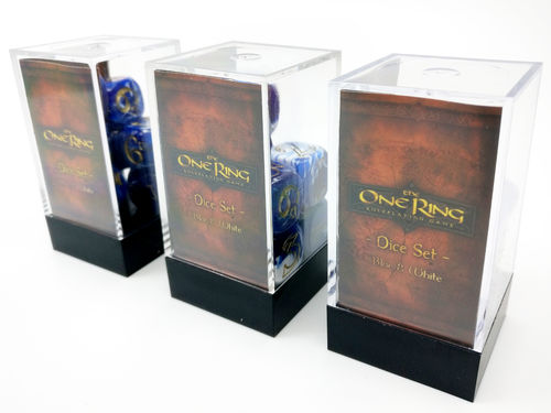 The One Ring - Dice Set Blue and White (3 sets, 7 dice per set)