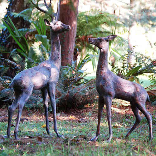 Extra Large Deer Statues Pair
