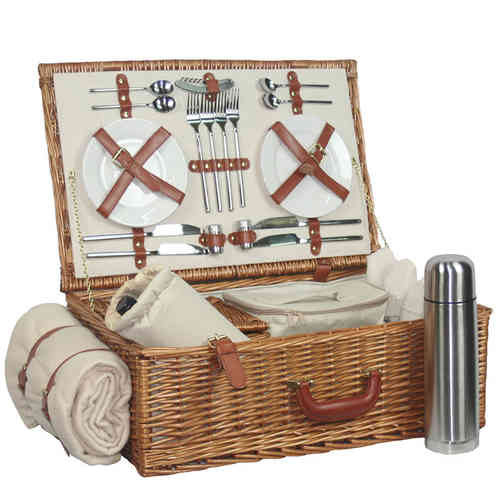 Premium Williow Picnic Basket for 4 Persons
