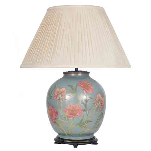 Jenny Worrall New Peony Glass Table Lamp