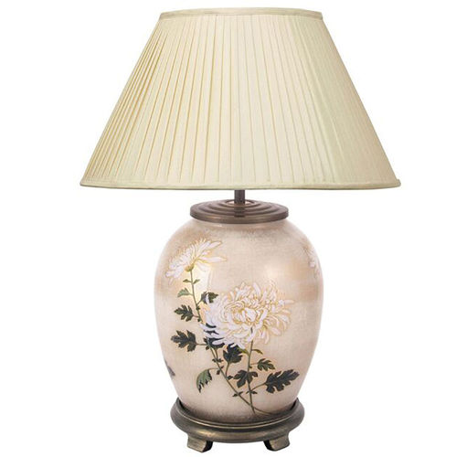 Jenny Worrall Chrysanthemum Medium Oval Glass Table Lamp
