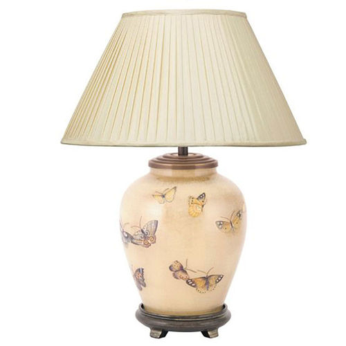 Jenny Worrall Chinese Butterfly Gold and Sienna Small Table Lamp