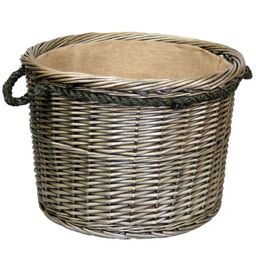 Large Rope Log Basket Willow