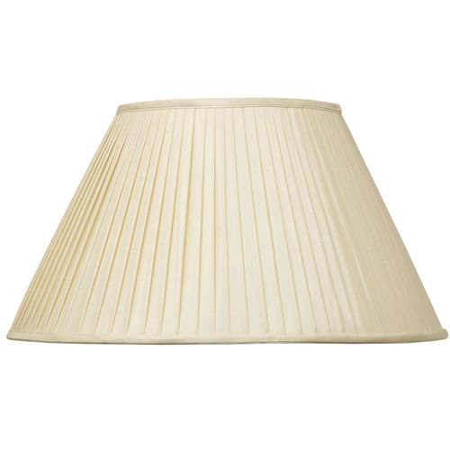 "Faux Silk Shade Pleat  20"" Almond"
