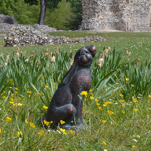Moon Star Gazing Hare Garden Sculpture