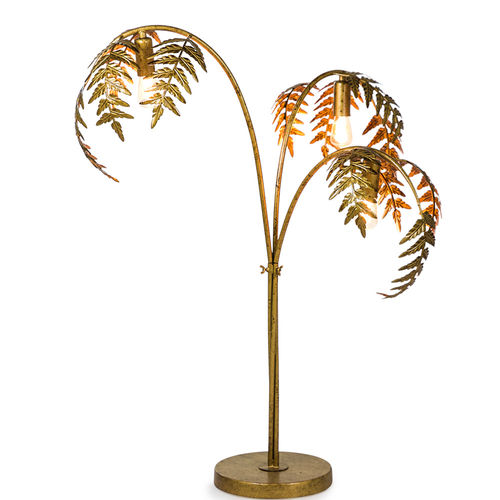 Gold Style Palm Leaf Table Lamp