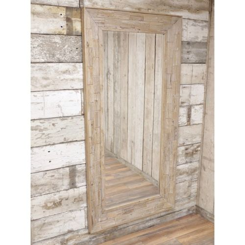 Large Rustic Wall Hung Wooden Mirror