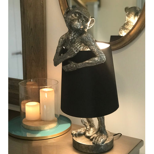 Antique Silver Monkey Table Lamp Shade