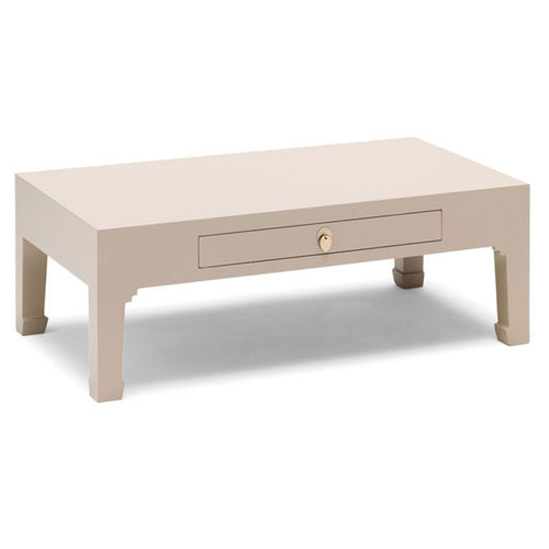 Oriental Style Oyster Grey Coffee Table