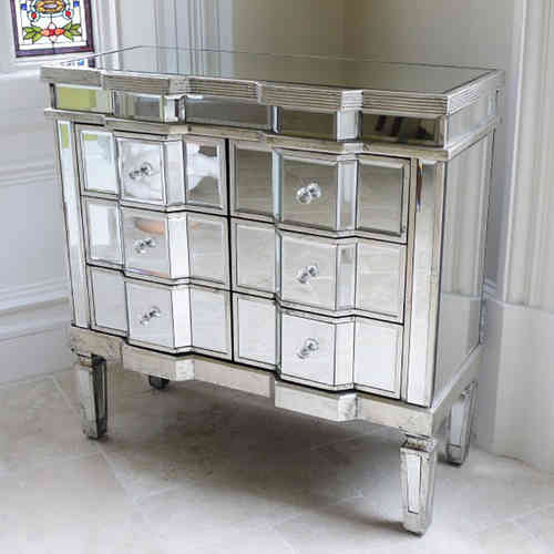 Venetian Style Mirrored Chest of Drawers