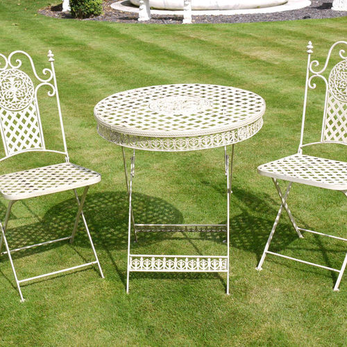 Metal Garden Furniture Set Cream