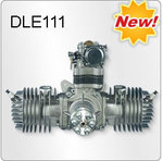 DLE-111 111cc Twin Cylinder Petrol Engine (12 day delivery)