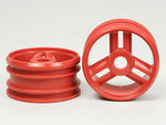 Tamiya Nitor Thunder/Blaster 3 Spoke Rims Red Pair SP-1162