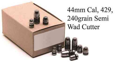 44mag GM Lead Bullet Heads 240grain Semi Wad Cutter Pkt 500 3605N
