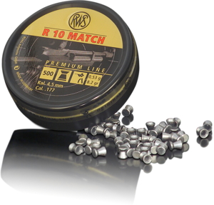 RWS R10 Match .177 0.53g 4.5mm Pellets (500)