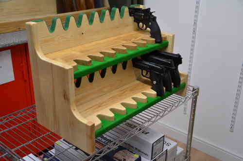 Solid Ash Gun Racks (Designed to hold both Automatic Pistols and Revolvers).