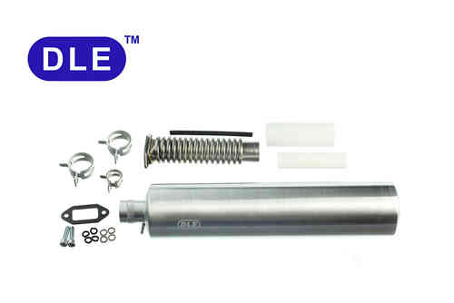 DLE-35RA Pipe / Muffler with Smoke Input, Manifold with Teflon Pipe and Clips