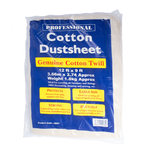 Heavy Duty Dust Sheet Quality Cotton Twill 12' ft x 9' ft Professional