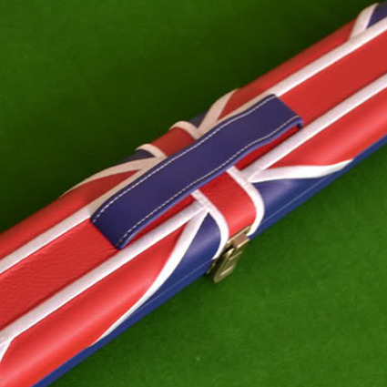 Quality Hand Crafted 1 piece Leather UNION JACK FLAG Hard Snooker Cue Case