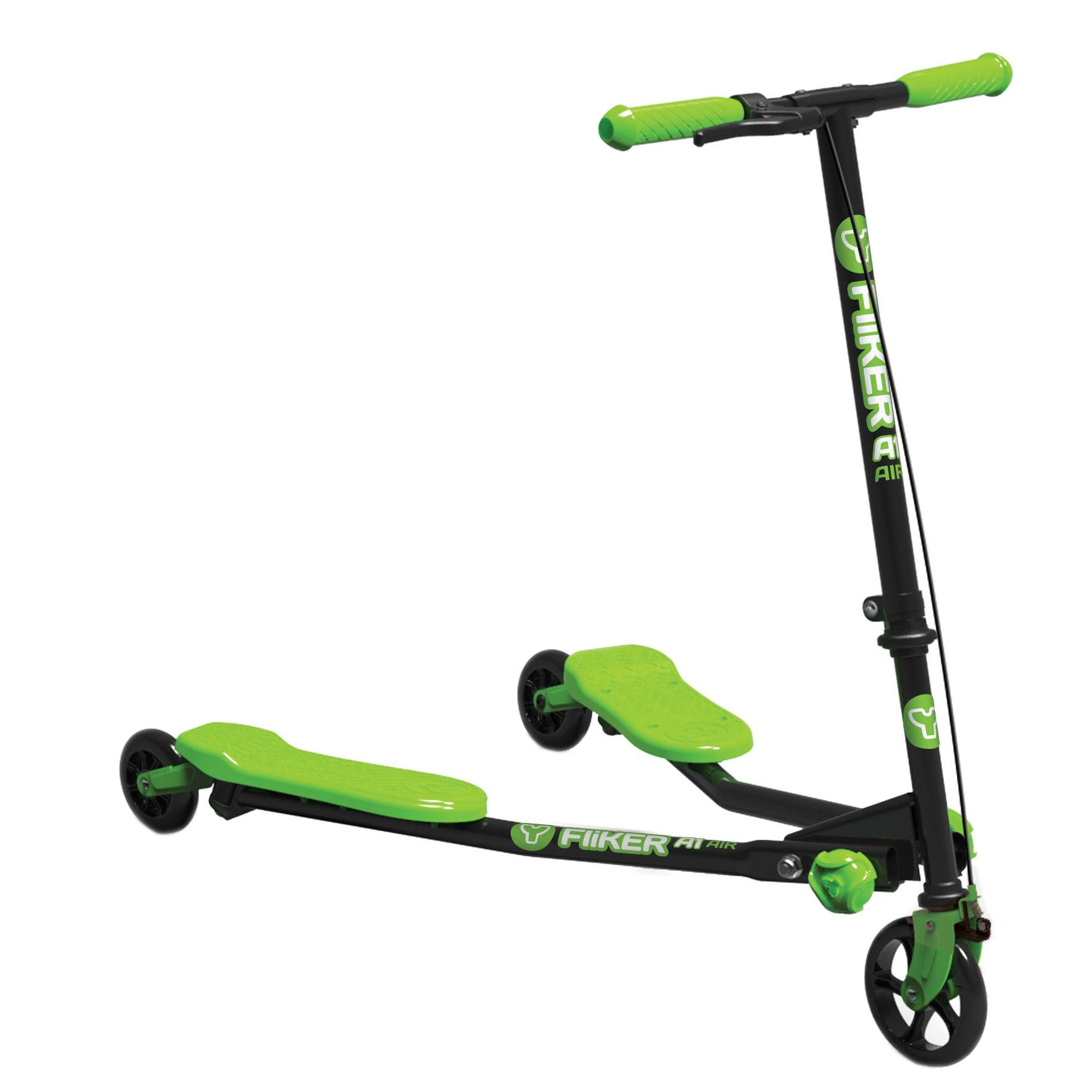 Genuine Yvolution Y Fliker Kids Scooter - Black/Green A1 Air - New Range | eBay