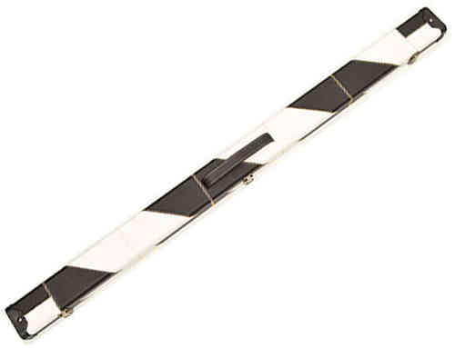 Handmade 3/4 Deluxe Patchwork Style Snooker Cue Case - Black/White
