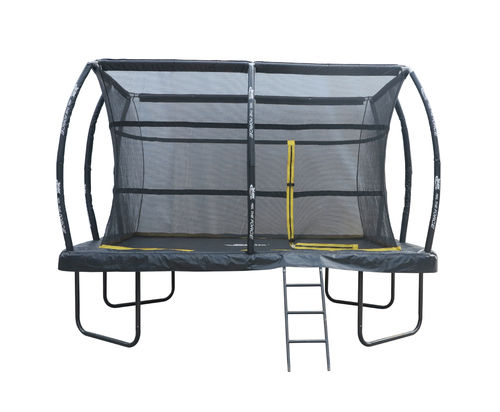 7.5ft x 10ft Telstar ELITE Rectangle Trampoline Package Including Cover and Ladder